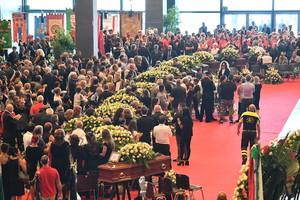 Funeral de Estado por los fallecidos en el puente de Génova, este sábado.