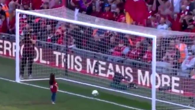 El gol de la hija de Salah.