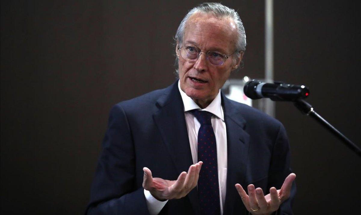 El exministro del PP Josep Piqué en un acto en Santiago de Chile, el 11 de junio del 2019