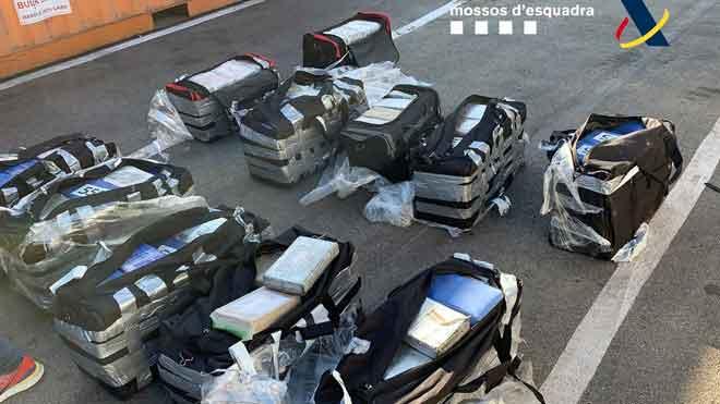 Hallados 500 kilos de cocaína en un contenedor en el puerto de Barcelona.