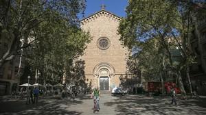 Laplaza de la Virreina, en Gràcia.
