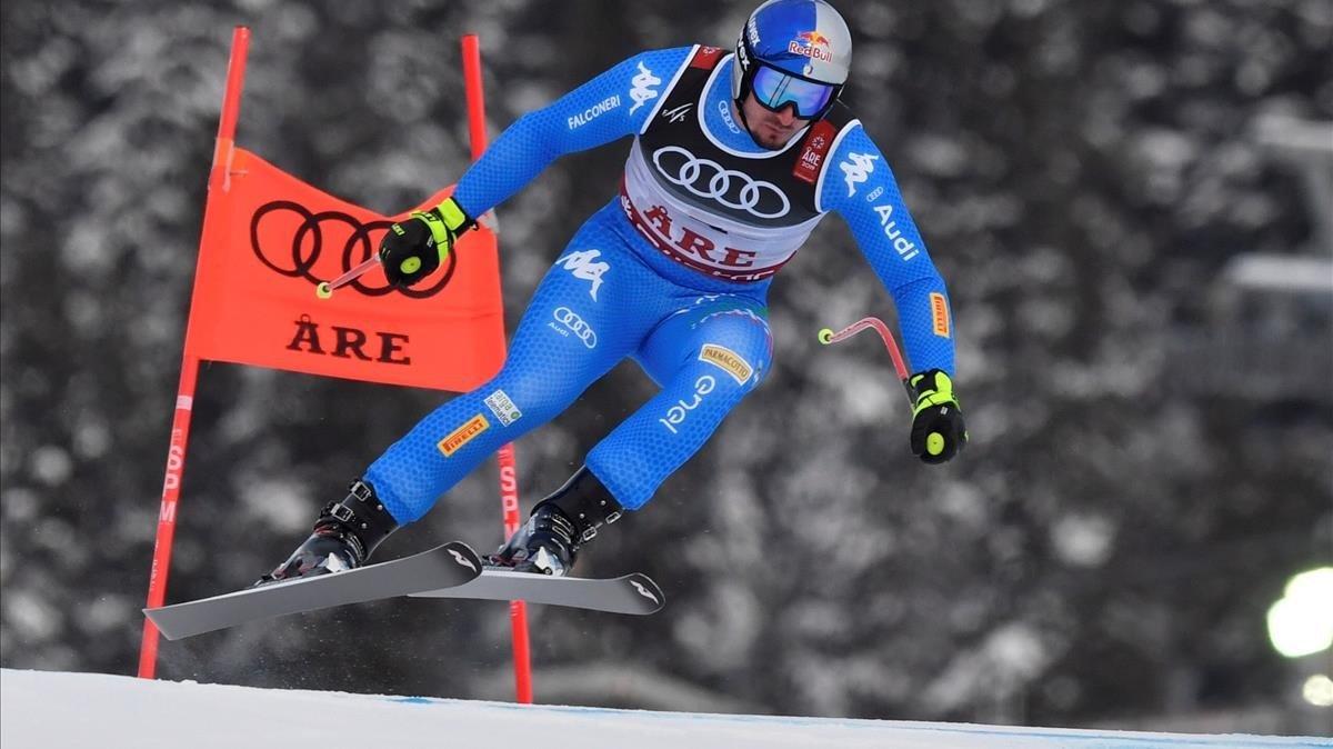 El italiano Dominik Paris, durante su bajada triunfal.
