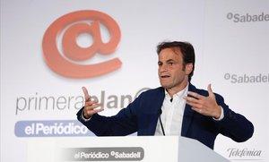 Jaume Asens, en el debate de Primera Plana.