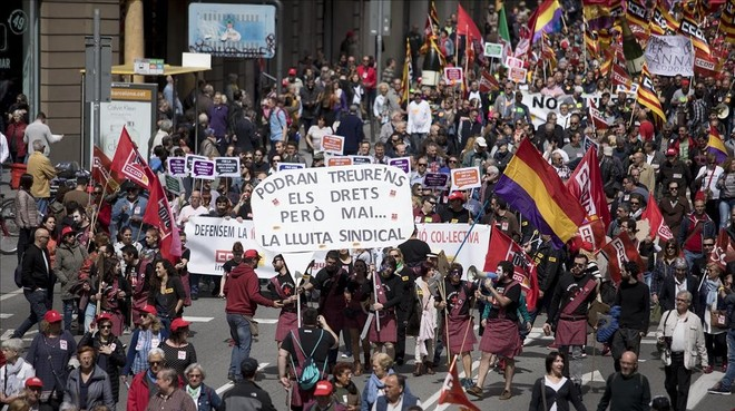 Manifestaciones por el 1 de Mayo