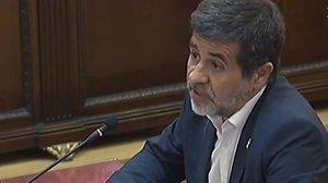 Jordi Sànchez en el juicio del Supremo.