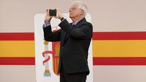 Josep Borrell, en una imagen del pasado Doce de Octubre.