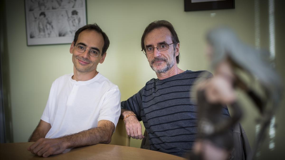 Juan Díaz Canales(izquierda) y Rubén Pellejero, que asumieron el reto de continuar las aventuras de Corto Maltés tras Hugo Pratt.