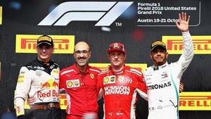 Kimi Raikkonen gana el GPde Estados Unidos y da vida aFerrari en el mundial de constructores