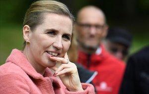 La líderde los socialdemócratas daneses, Mette Frederiksen, el pasado 28 de mayo en un acto de campaña.
