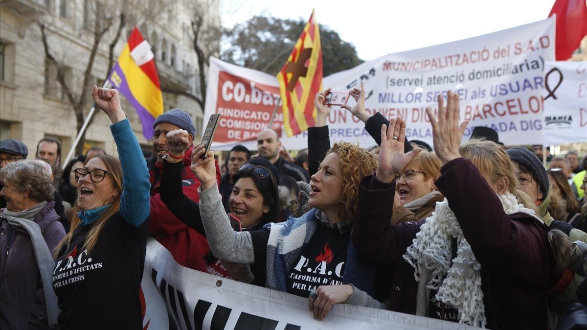 Manifestación en Barcelona contra la reforma laboral de la coordinadora CICLO.