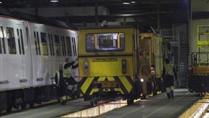 Mantenimiento del metro de Barcelona.