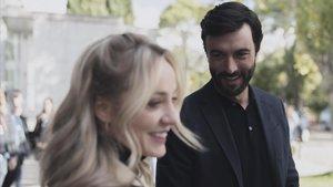 Ángela Cremonte y Javier Rey, en 'Mentiras'.
