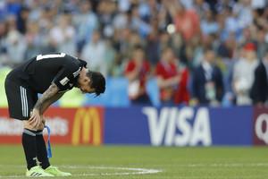 Leo Messi, durante el partido de Argentina contra Islandia.