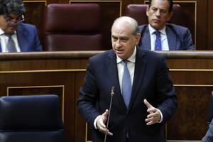 El ministre de l'Interior, Jorge Fernández Díaz, aquest dimarts, en la sessió de control al Govern al Congrés.
