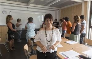 Rosa Clar, en la sala de profesores del instituto público de Tordera, donde es directora.