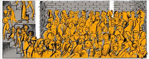 Un grupo de refugiados hacinados en Naufragio nº23