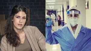 La actriz Nerea Barros cuenta que ha vuelto a ejercer de enfermera durante la pandemia