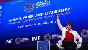 La nueva directora gerente del Fondo Monetario Internacional (FMI), Kristalina Georgieva, este martes.
