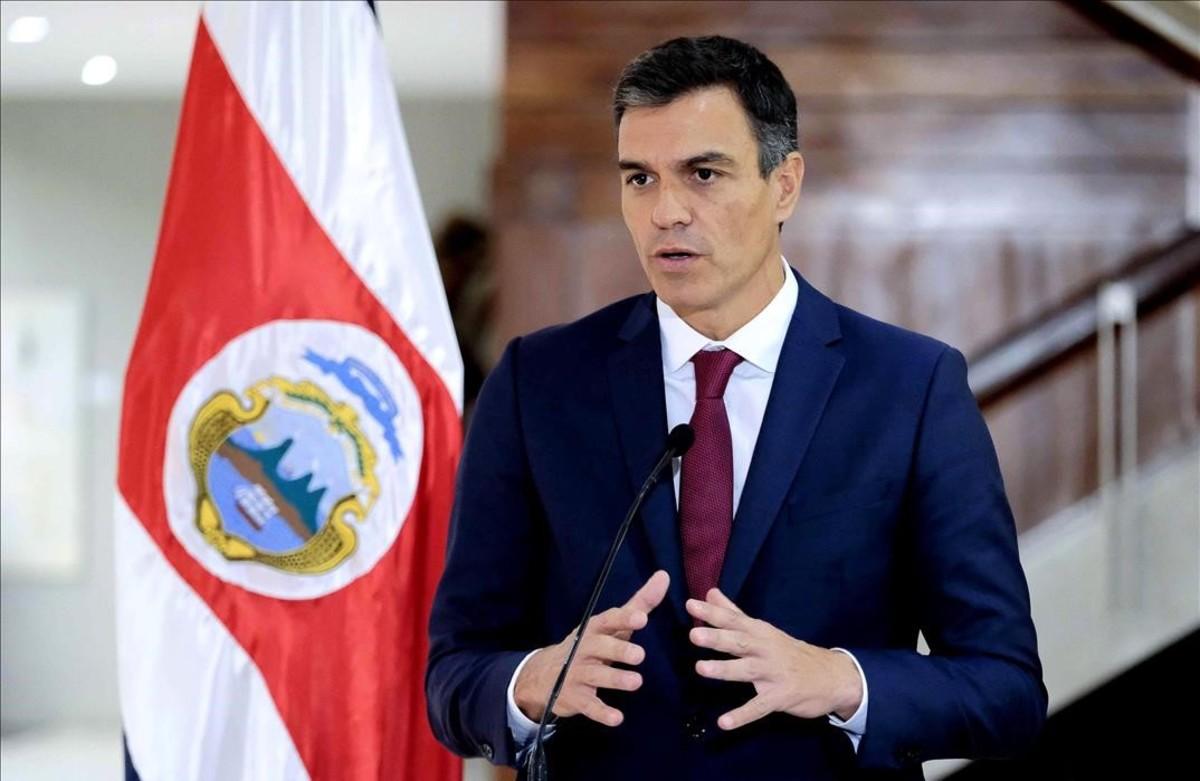 Pedro Sánchez,el pasado viernes en San José de Costa Rica.