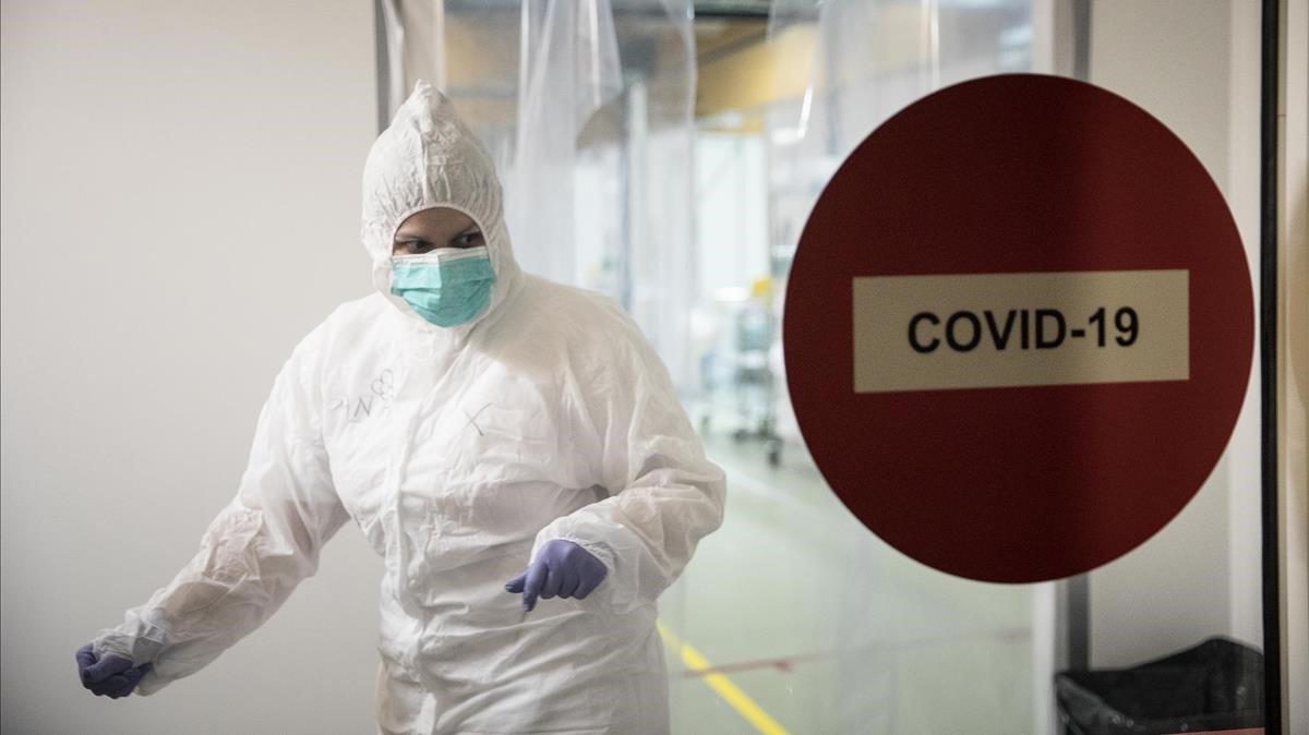 Personal sanitario en un hospital catalán.