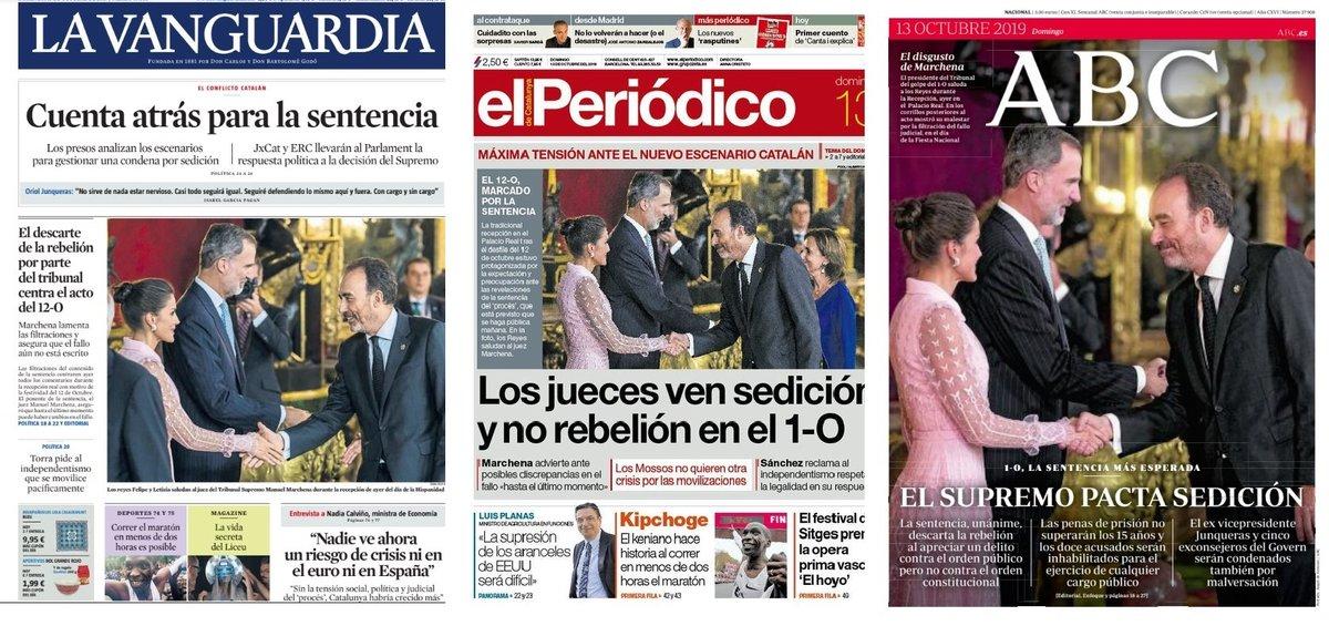 Prensa de hoy: Las portadas de los periódicos del domingo 13 de octubre del 2019