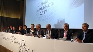 Presentación del Premio Planeta 2017, en el Hospital de Sant Pau.