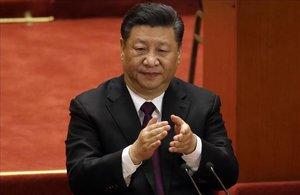 El presidente chino, Xi Jinping, durante el acto de celebración del 40º aniversario de la apertura del país.