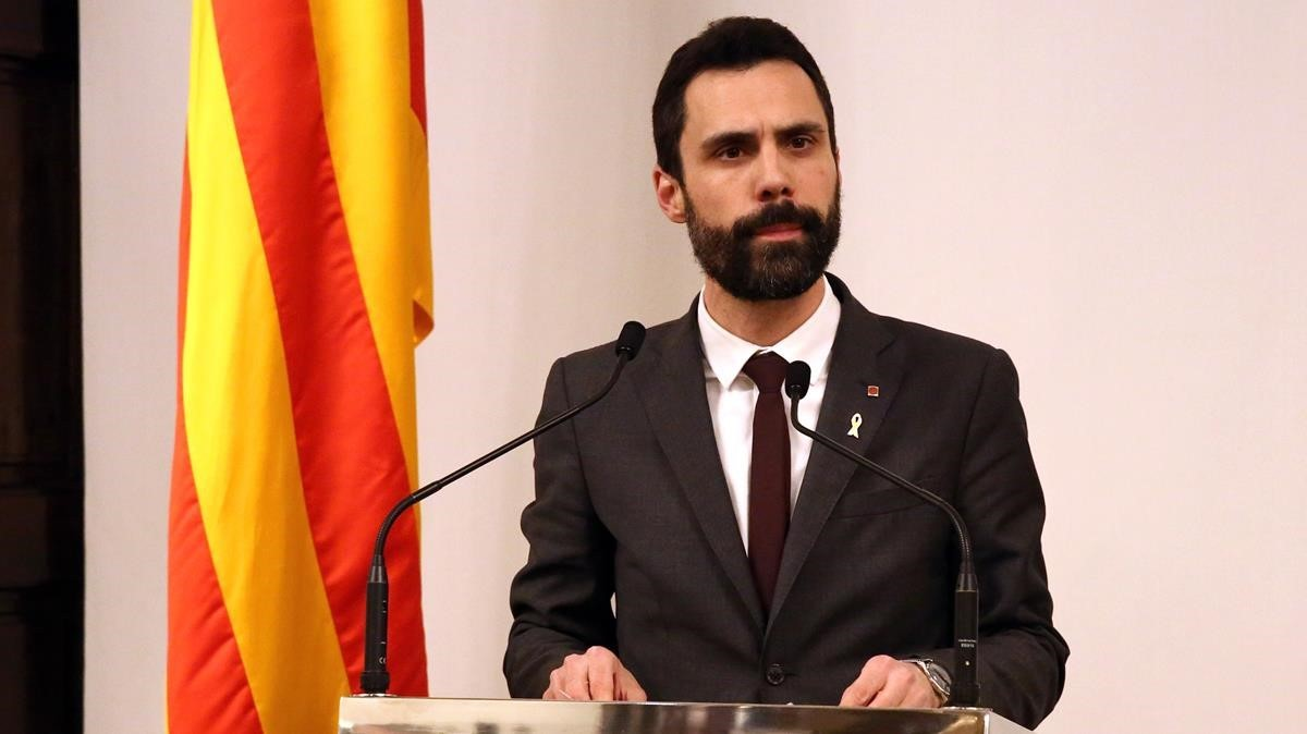 El presidente del Parlament, Roger Torrent.