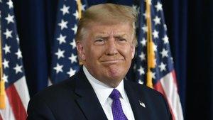 El presidente de EEUU, Donald Trump, durante una comparecencia ante los medios.