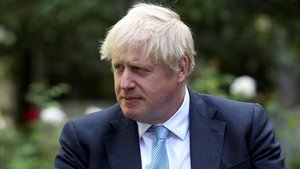 El primer ministro británico, Boris Johnson, este lunes.