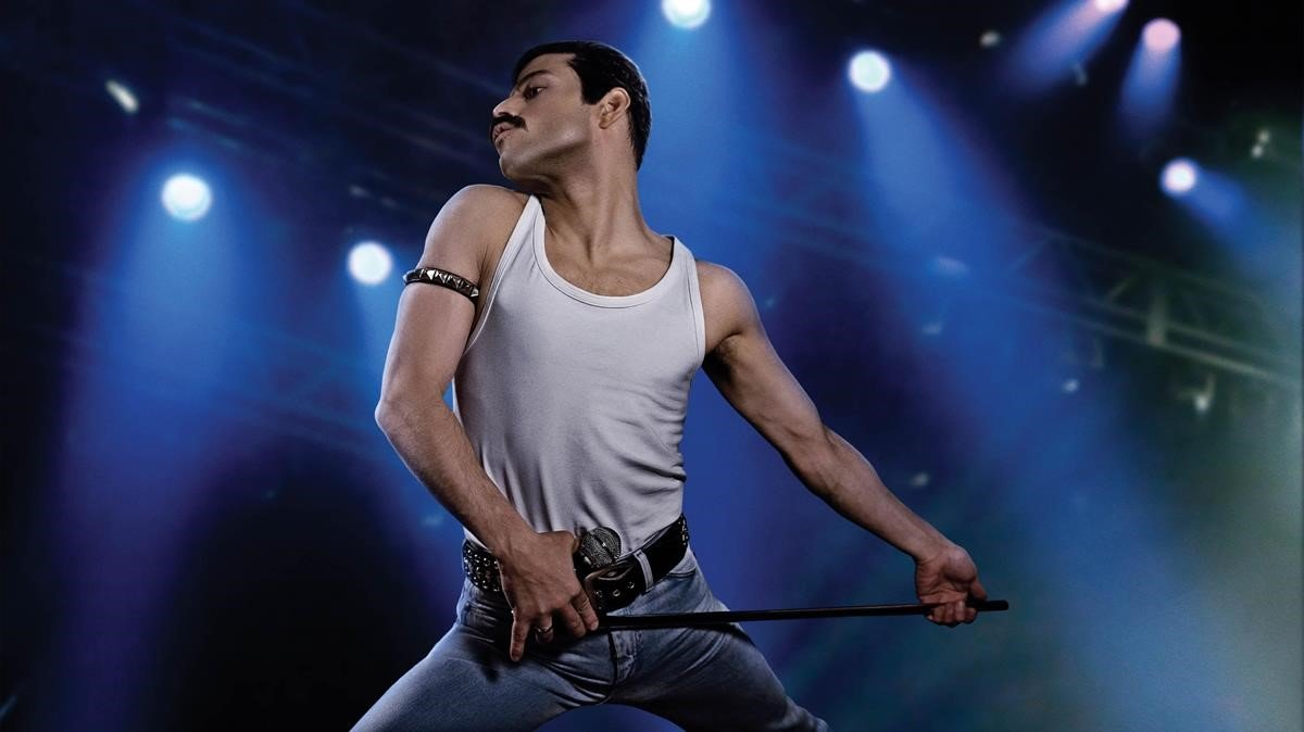 Rami Malek, como Freddie Mercury, en 'Bohemian Rhapsody'