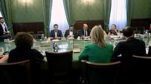 Reunión de la comisión de investigación de la 'operación Cataluña'.