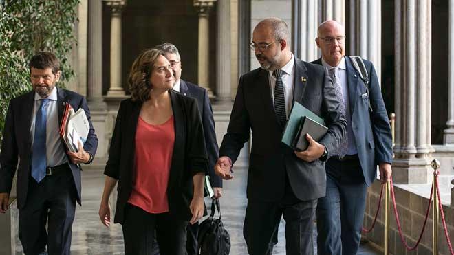 Reunión de la Junta de Seguridad Local de Barcelona.