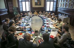 Reunión de la Mesa y la Junta de Portavoces del Parlament.