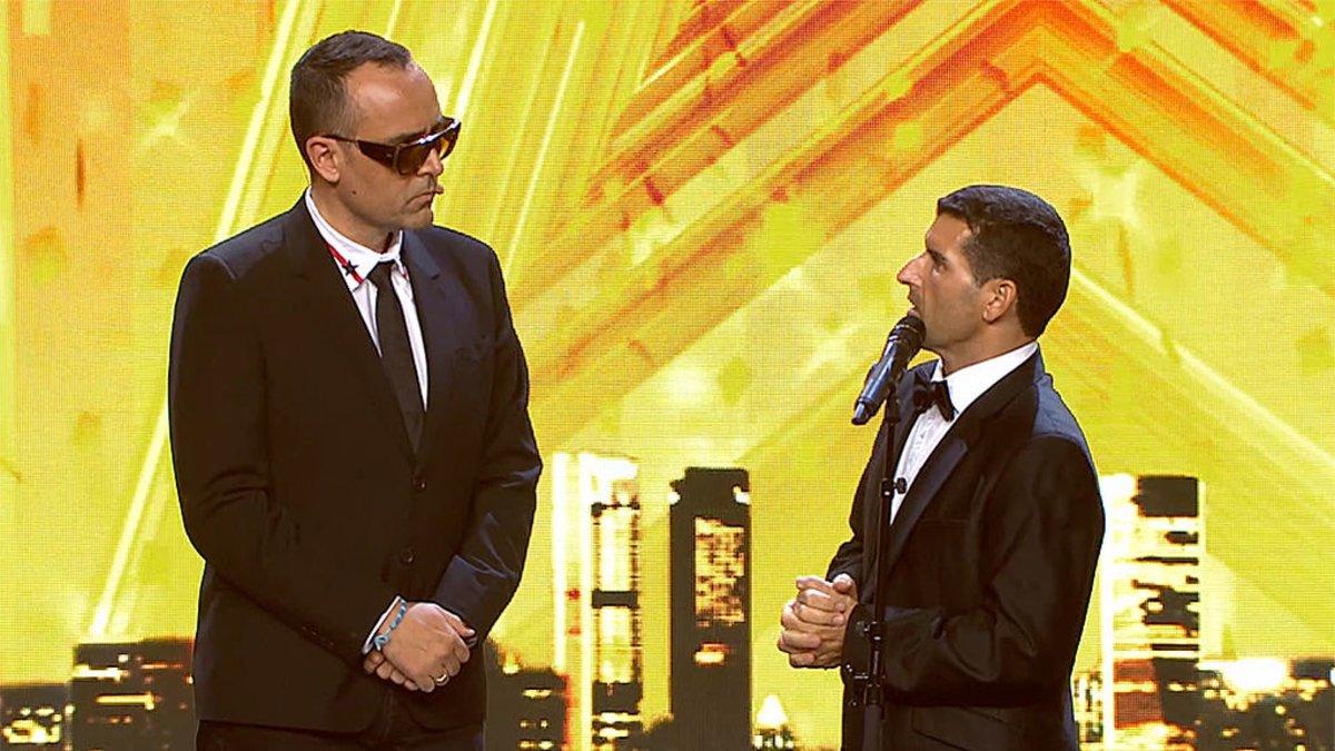 Risto Mejide y David García, su pase de oro en 'Got Talent 5'.