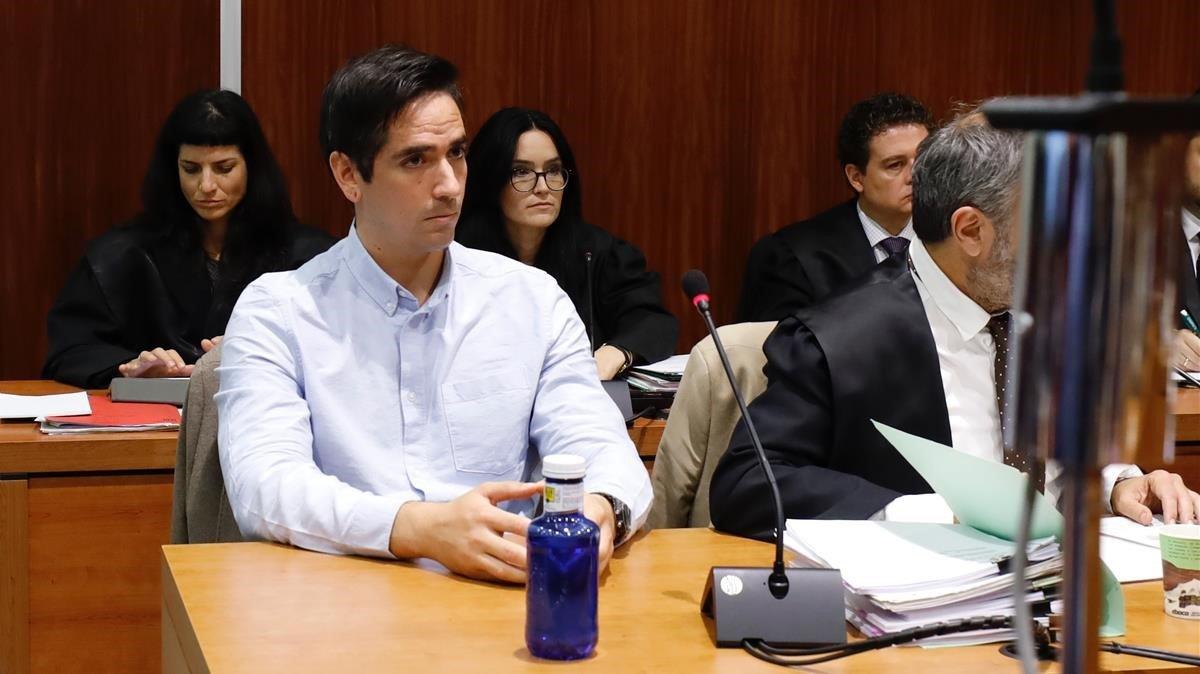 Rodrigo Lanza, durante la sesión del juicio.