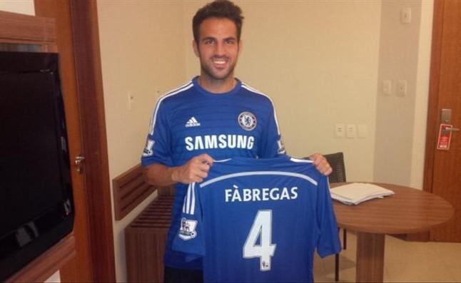 Cesc, con la camiseta del Chelsea, su nuevo equipo.