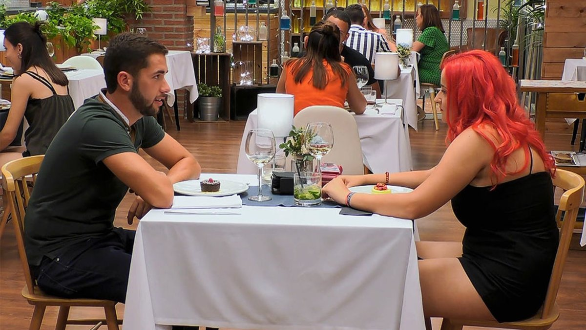 Salvador y Araceli en 'First Dates'.