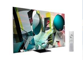 Último modelo de televisor de Samsung con 8K, AI y pantalla infinita.