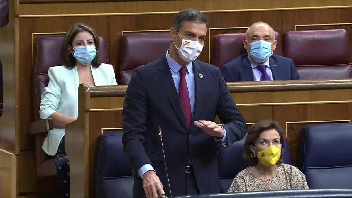 El presidente del Gobierno, Pedro Sánchez, ha pedido este miércoles al líder del PP, Pablo Casado, que acabe con la corrupción de su formación, ponga fin a 30 años del Partido Popular incumpliendo las leyes y demuestre que la formación que dirige no es la misma que la de José María Aznar y Mariano Rajoy.