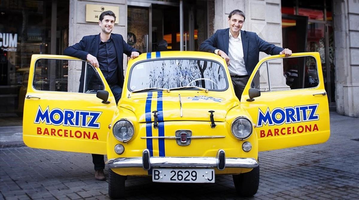 Santi Manzano y Sergi Martinez de Cervezas Moritz.