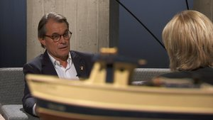 Sílvia Cóppulo entrevista a Artur Mas en el programa 'El divan'de TV-3.