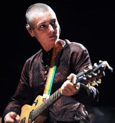 Sinéad O'Connor, durante una actuación en el Festival Intercéltico de Lorient (Francia), en agosto del 2013.