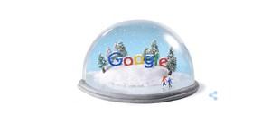 El doodle de Google dedicado a la llegada del invierno