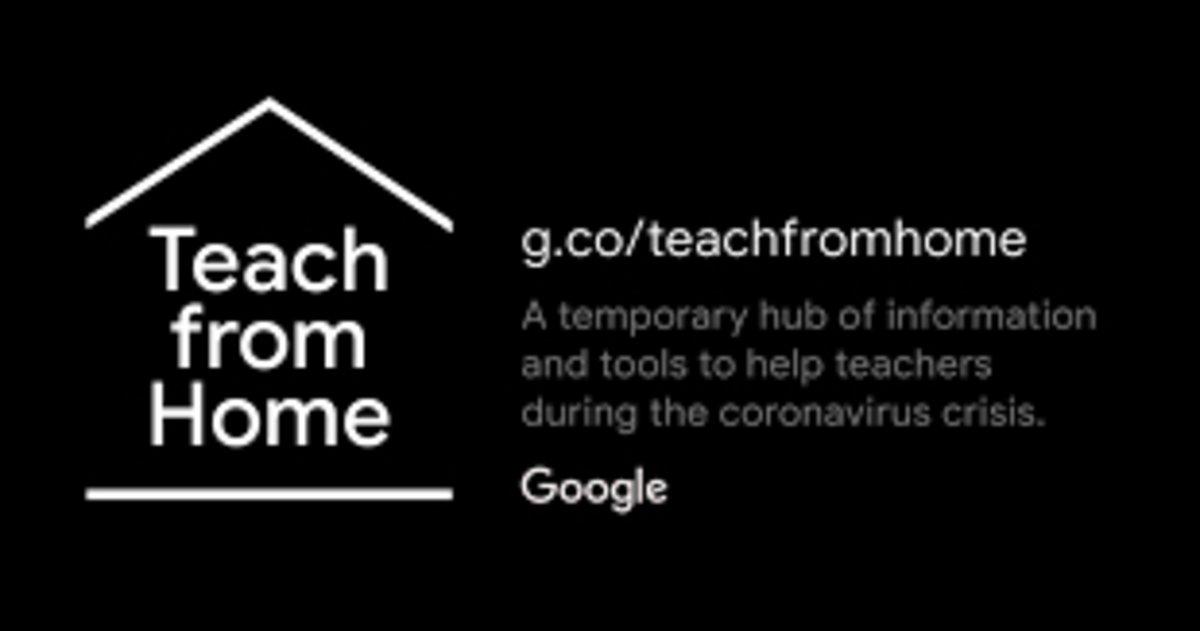 Teach from home, de Google.