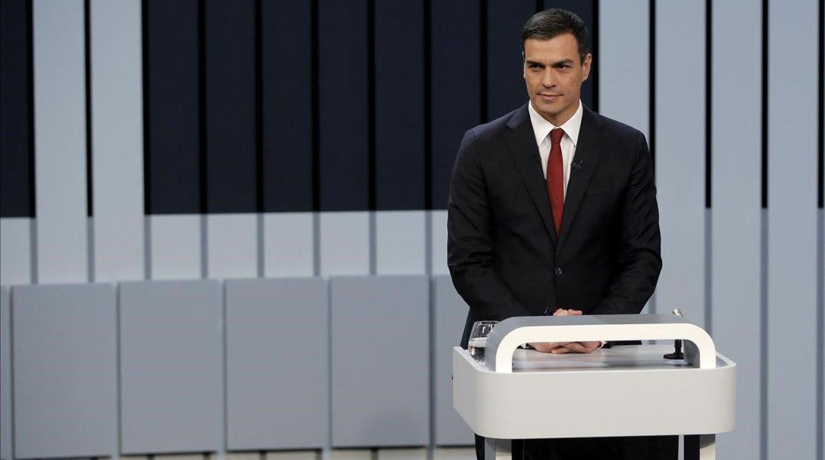 Pedro Sánchez, durante el debate electoral celebrado el 13 de junio del 2016.