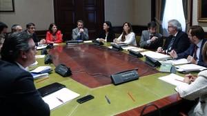 Primera reunión de Mesa y Portavoces de la comisión territorial en el Congreso.