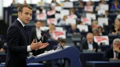 El europeísta Macron no seduce a la Eurocámara