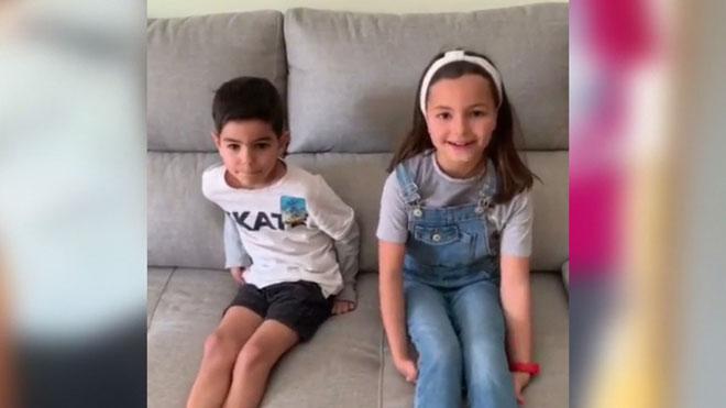 Els fills de sanitaris del Vall d'Hebron feliciten les seves mares a les xarxes