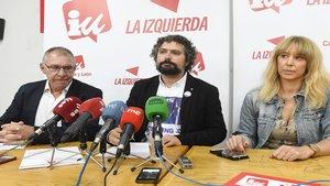 Rueda de prensa del comité de empresa celebrada en León después del acuerdo con la compañía.